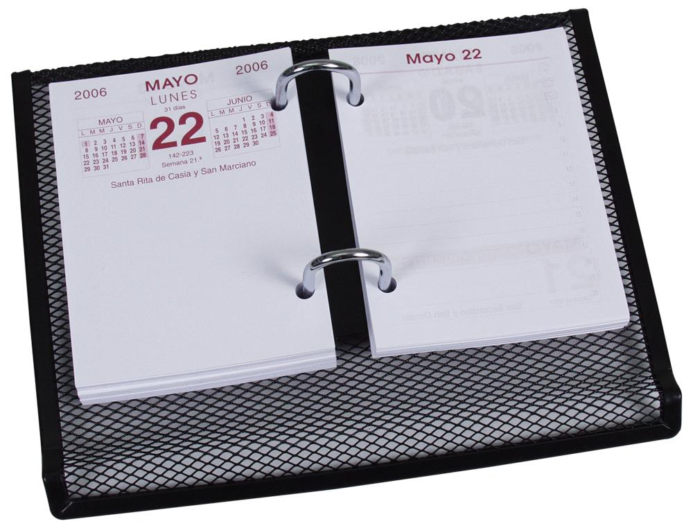 Portacalendario metalico q-connect kf00827 negro -220x173x30 mm