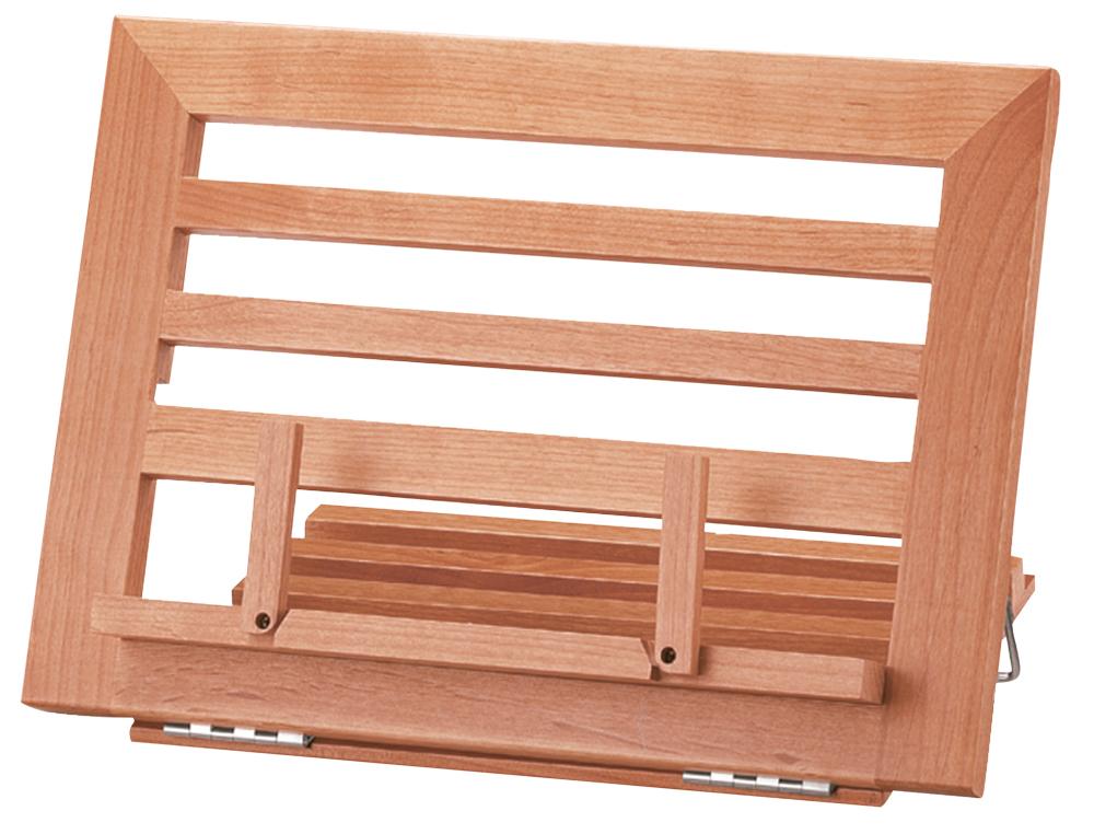Atril sujetalibros madera l-32l 340x240x170mm