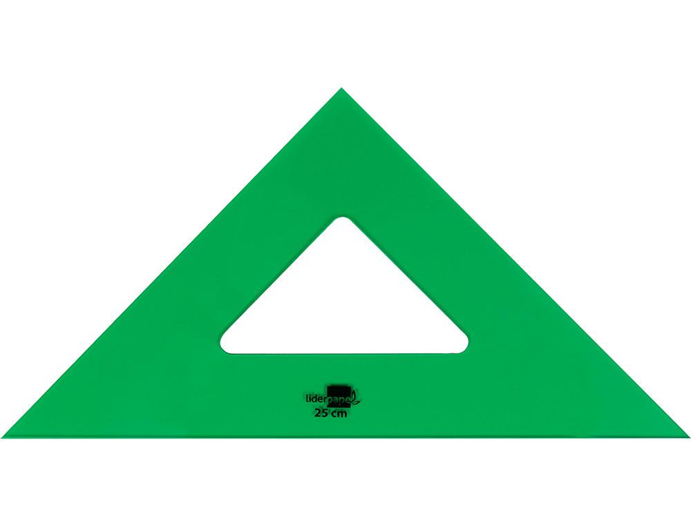 Escuadra liderpapel 25 cm acrilico verde