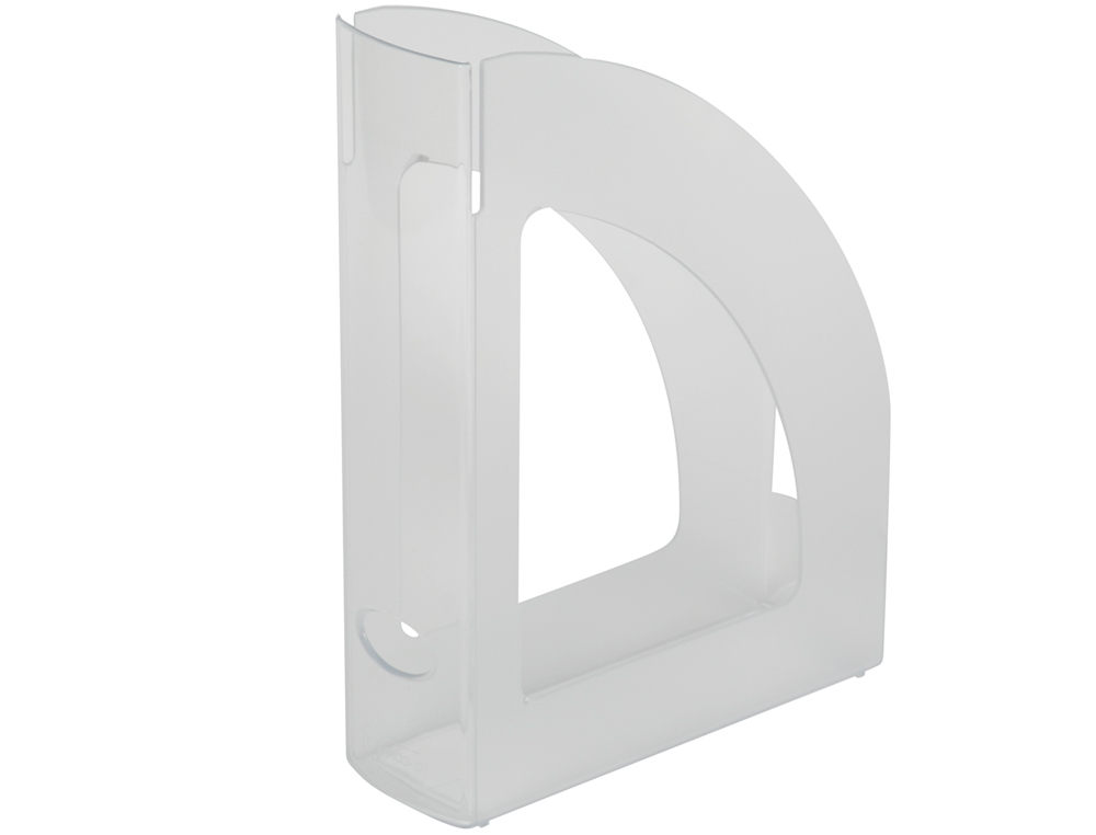 Revistero plastico q-connect transparente