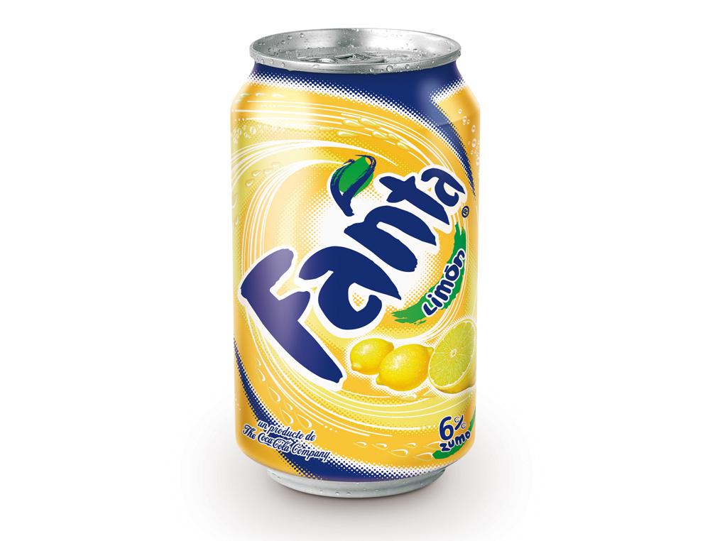 Refresco fanta limon lata 330 ml