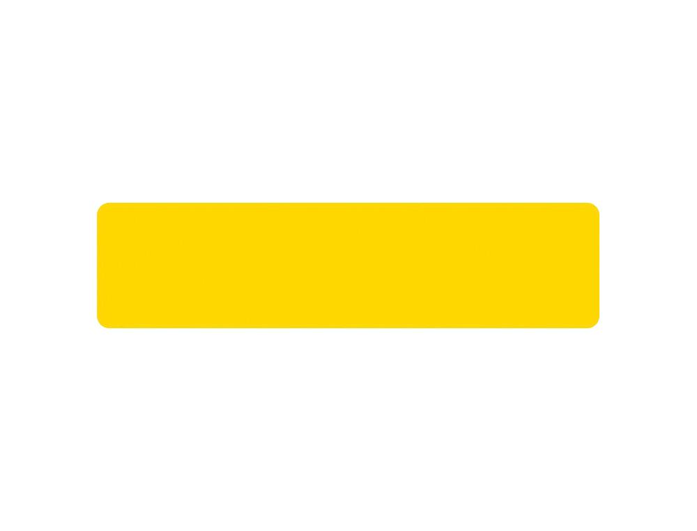 Simbolo adhesivo tarifold pvc tira longitudinal delimitacion suelo 50 mm amarillo pack de 10 unidade
