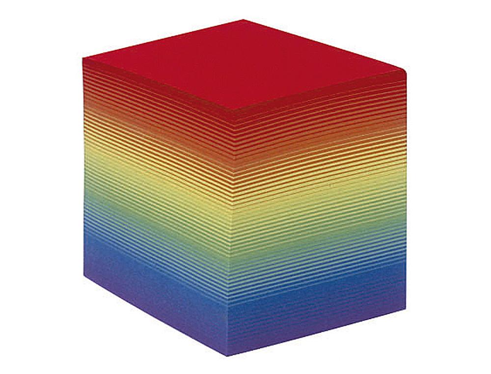 Taco papel quo vadis encolado colores arco iris 680 hojas 100% reciclado 90 g/m2 90x90x90 mm